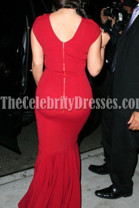 Kim Kardashian Rote Prom Formelle Kleidung Spiel Changers Awards