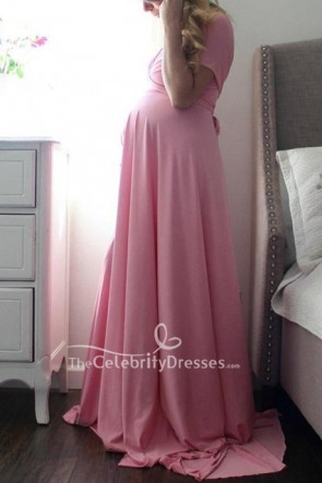 One Shoulder Formal Maternity Dress for Baby Shower
