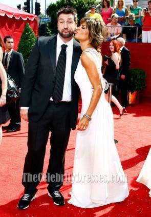 Lisa Rinna Weiß Ein Schulter-Abschlussball-Kleid 2008 Primetime Emmy Awards Roter Teppich