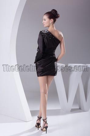 Promi inspirierte ein Ärmel kleine schwarze Party Heimkehrkleid