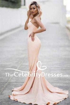 Langes trägerloses Schatz-Meerjungfrau-formales Kleid-Abend-Abschlussball-Militärkleid