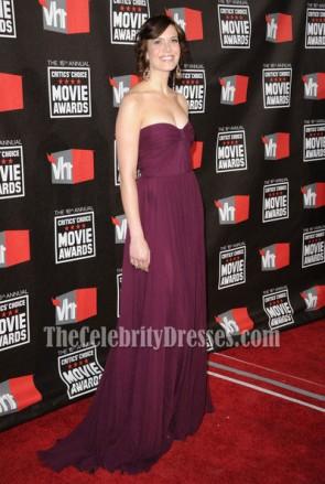 Mandy Moore trägerlosen formalen Kleid Promkleid 16. jährlichen Critics 'Choice Movie Awards