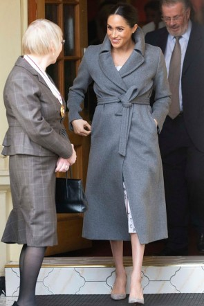Meghan Markle Gray Winter Coat