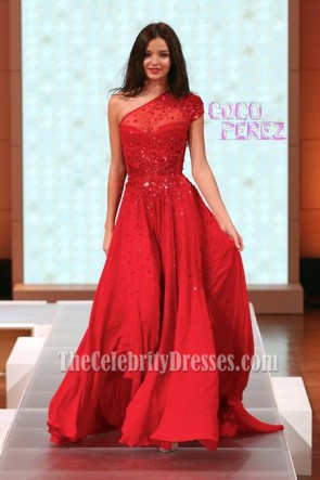 Miranda Kerr Red Prom Dress David Jones Spring Summer 2012 Fashion Show
