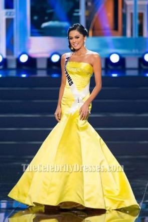 Ariella Arida Gelbe Festzug Festliche Kleider 2013 Miss Universe