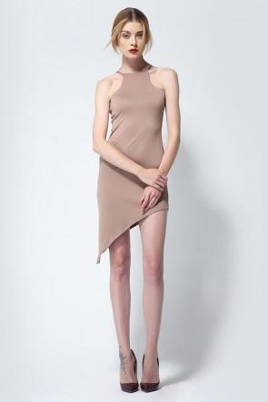 Asymmetric Sleeveless Party Homecoming Dress TCDMU0007