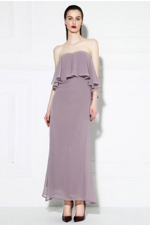 Celebrity Inspired Strapless Chiffon Prom Evening Dress TCDMU0037