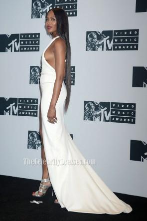 Naomi Campbell weiß ein Schulter Abend prom Kleid 2016 MTV Video Music Awards