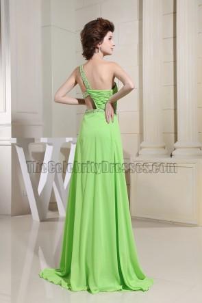 Knospe grün ausgeschnitten Perlen Ballkleid Abendkleid