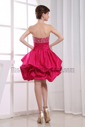 Cute A-Line Fuchsia Homecoming Graduation Party Dresses