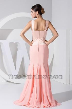 Promi inspirierte rosa Meerjungfrau Ballkleid