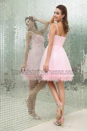 Wunderschönes rosa Perlen Partykleid Heimkehrkleid
