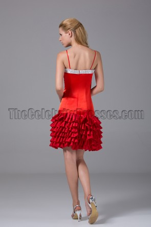 Celebrity Inspired Red Party Homecoming Dresses