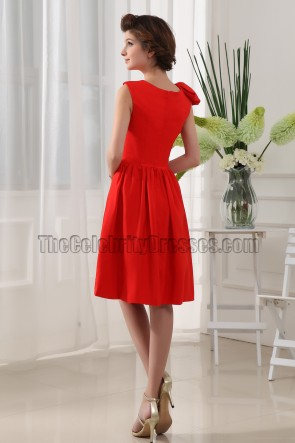 New Style Red Cocktail Bridesmaid Homecoming Dresses