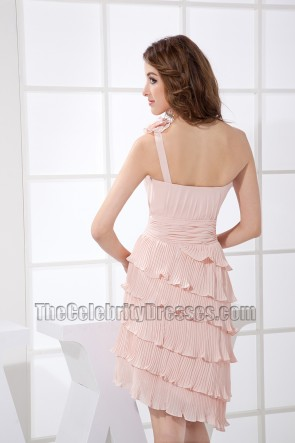 New Style kurzes One Shoulder Cocktailkleid Party Homecoming Kleid