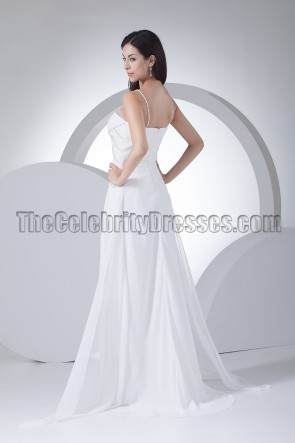 Sheath/Column Beaded Wedding Dresses