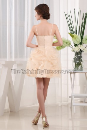 Gorgeous Party Homecoming Bridesmaid Dresses With 3D Flowers