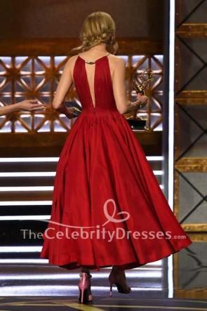 Nicole Kidman Dunkelrot Tiefem V-Ausschnitt Tiefer Ballkleid Kleid Emmy Awards 2017 Roter Teppich