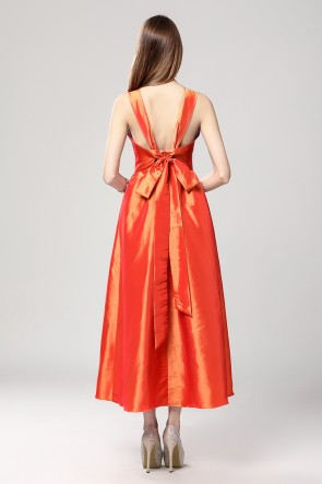 Orange Sleeveless Prom Gown Party Dresses TCDBF2018