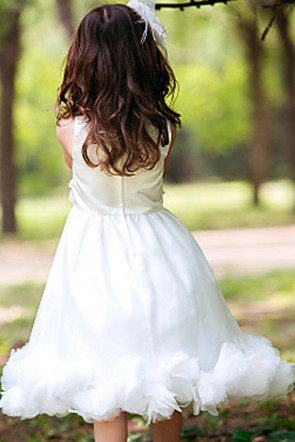 Organza Princess Flower Girl Dress