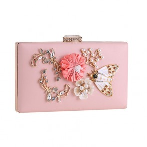 Pink Beading Fashion Evening Party Clutch Handbag