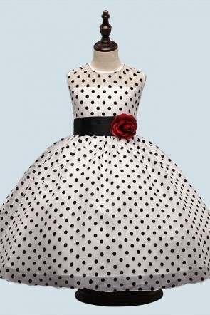 Polka Dot Ball-Gown Dress