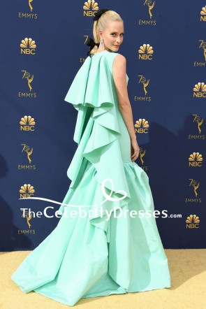 Poppy Delevingne Mint Ruffles Princess Ball Gown 2018 Emmys TCD8069