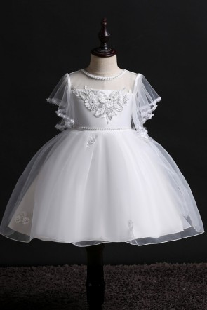 Princess Organza Flower Girl Dress