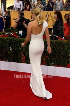 Reese Witherspoon Weiß Ein-Schulter-Abend-Abschlussball-Kleid 21st jährliche Schirm-Schauspieler-Gilden-Preise