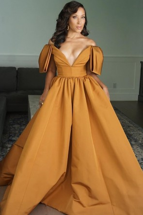 Robin Thede Off-the-shoulder Ball Gown Emmy Awards 2020