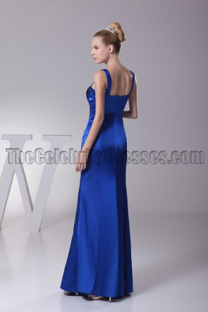 Royal Blue And Black Evening Gown Prom Dress
