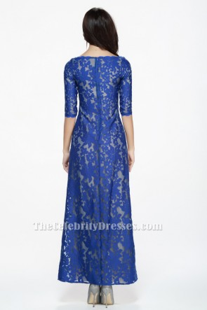 Royal Blue Lace Prom Gown Evening Formal Dresses TCDBF079