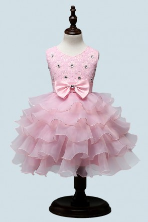 Ruffles Ball-Gown Flower Girl Dress