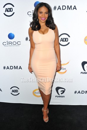 Sanaa Lathan Scoop Party Dress Red Carpet Cocktail Gown ALL Def Movie Awards  1