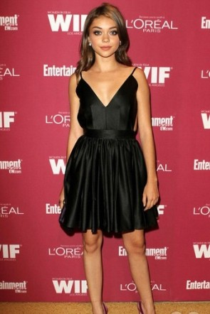Sarah Hyland Entertainment Weekly Emmy Party Little Black Dress