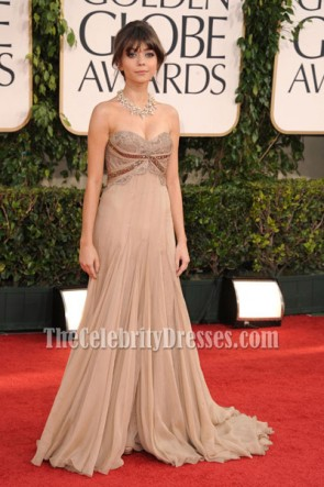 Sarah Hyland Gorgeous Strapless Prom Gown Formal Dress 2011 Golden Globe Awards Red Carpet