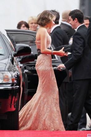 Sarah Hyland Spitze trägerlosen Abschlussball Kleid Golden Globes Awards 2012