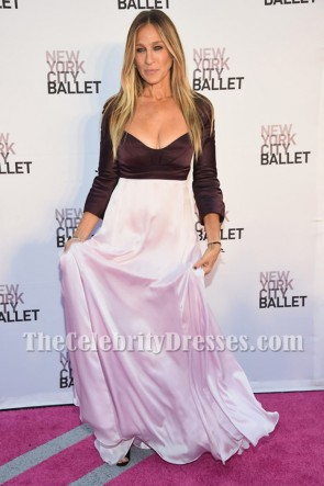 Sarah Jessica Parker Two-tone Sleeves Evening Prom Gown New York City Ballet 2016 Fall Gala