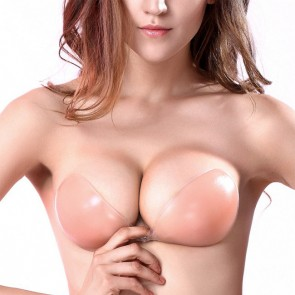 Strapless Sticky Invisible Silicone Adhesive Bras Backless & Push-up Bra