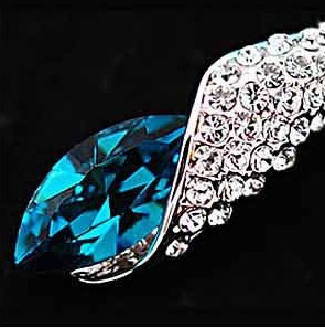 Sea Thoughts Peacock Blue Crystal Earrings Desert Sunlight TCDE0005