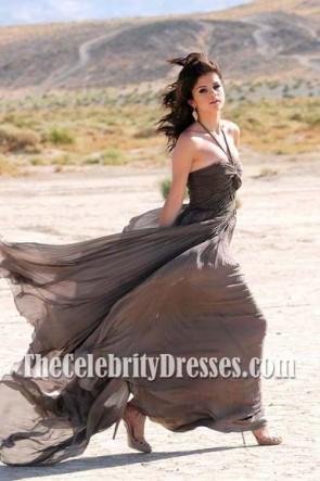 Selena Gomez Atemberaubende Halfter Prom Abendkleid aus einem Jahr ohne Regen