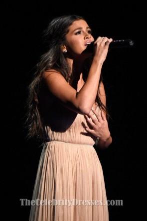 Selena Gomez Champagner Abendkleid 2014 Amerikanische Musikpreise