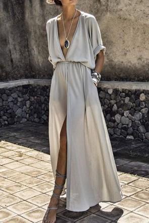 Sexy Thigh-high Slit Fashion Dress