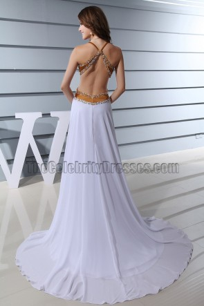 Sexy rückenfreies Abendkleid formelles Abschlussballkleid