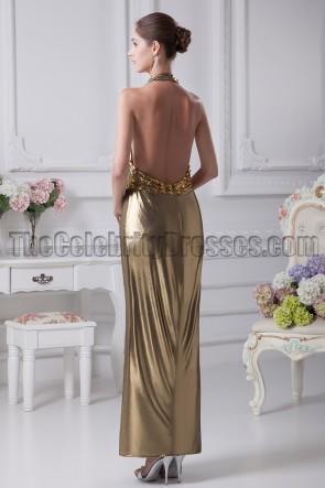 Sexy Halfter Abendkleid mit offenem Rücken und Ballkleid