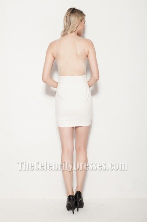 Sexy Mini White Party Dress TCDB0113