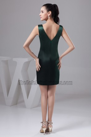Sexy Short Dark Green V-Neck Party Cocktail Dresses