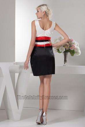 Sheath/Column V-Neck Party Homecoming Graduation Dresses