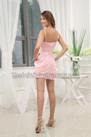Kurzes rosa Partykleid Abschlusskleid