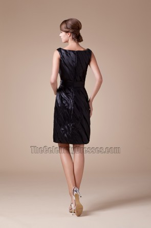 Short Sleeveless Black Cocktail Party Graduation Dresses